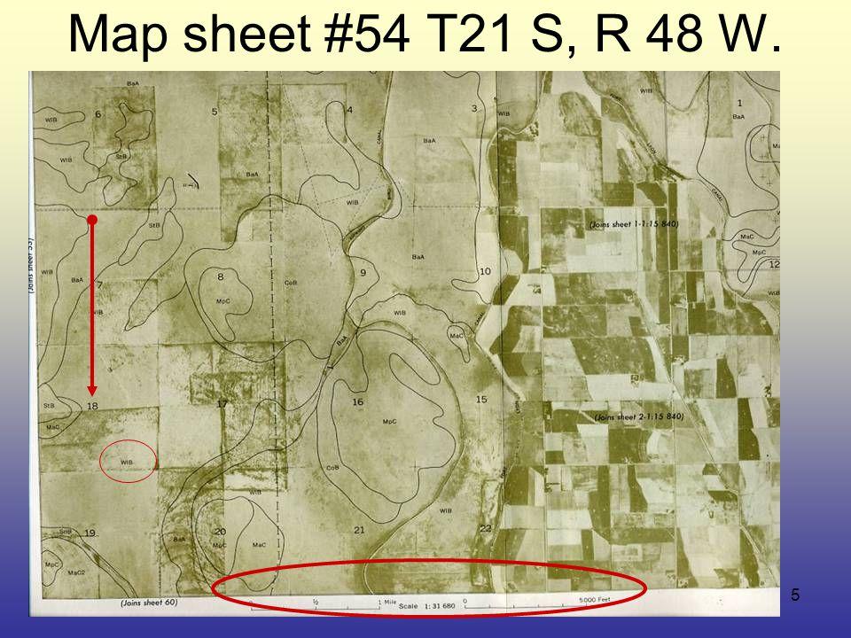 5 Map sheet #54 T21 S, R 48 W.