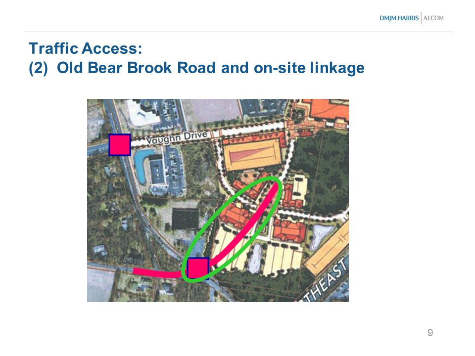 9 Traffic Access: (2) Old Bear Brook Road and on-site linkage