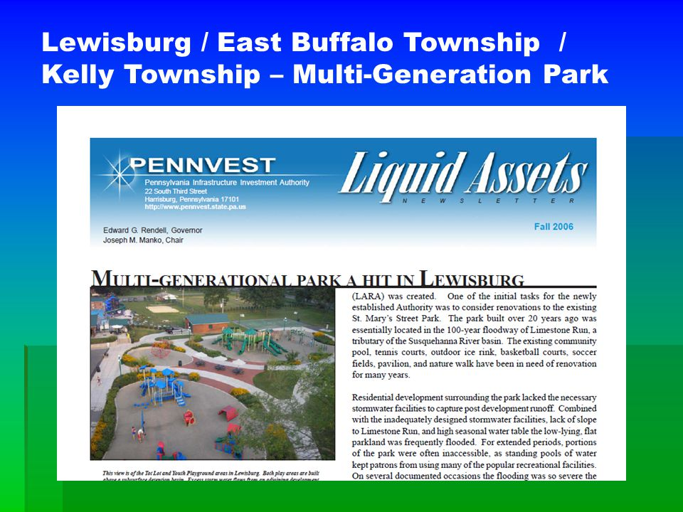 Lewisburg / East Buffalo Township / Kelly Township – Multi-Generation Park