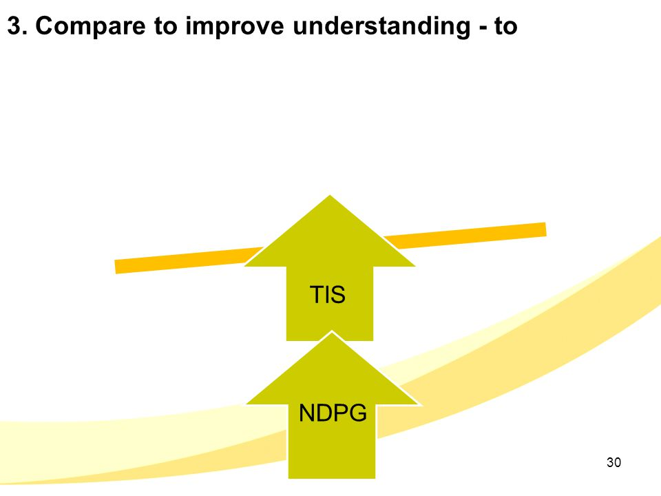 3. Compare to improve understanding - to 30 TIS NDPG