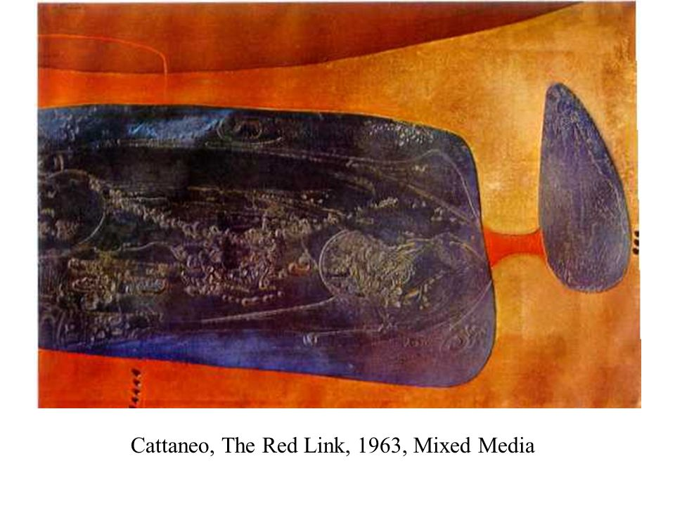 Cattaneo, The Red Link, 1963, Mixed Media