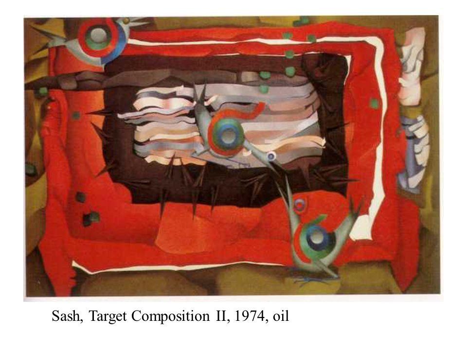 Sash, Target Composition II, 1974, oil