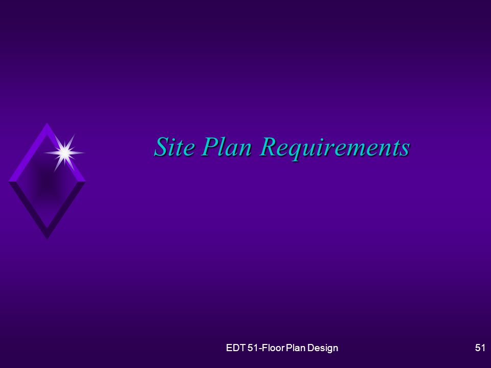 51 Site Plan Requirements