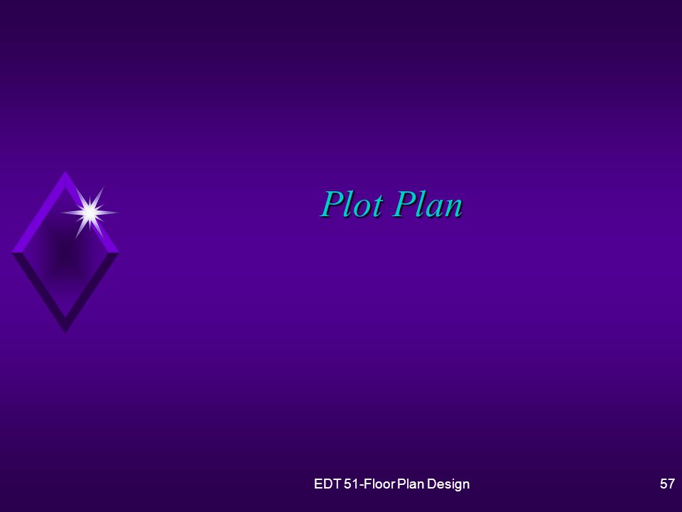 EDT 51-Floor Plan Design57 Plot Plan
