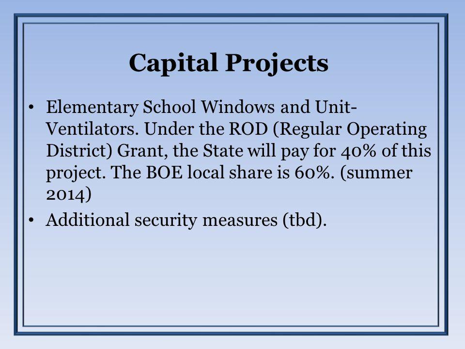 Capital Projects Elementary School Windows and Unit- Ventilators.