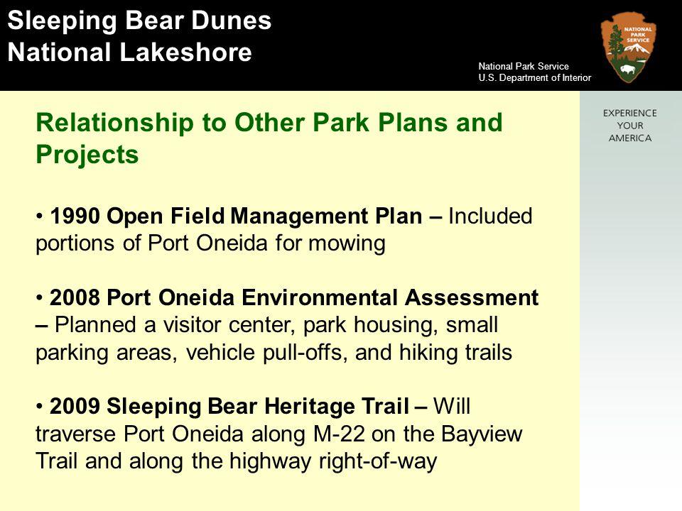 Sleeping Bear Dunes National Lakeshore National Park Service U.S.