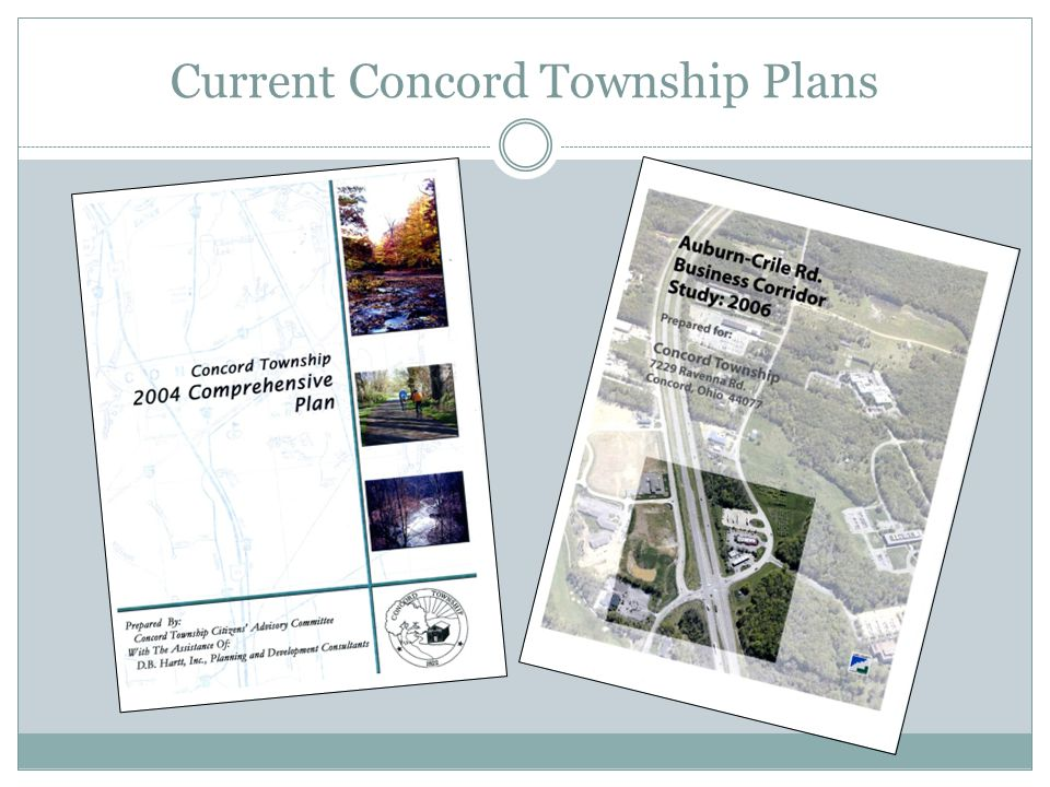 Current Concord Township Plans