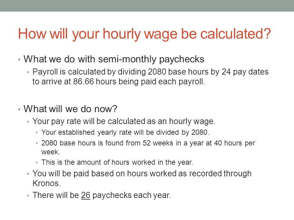 Average Pay week The previous payroll was calculated based on 86.66 hours.