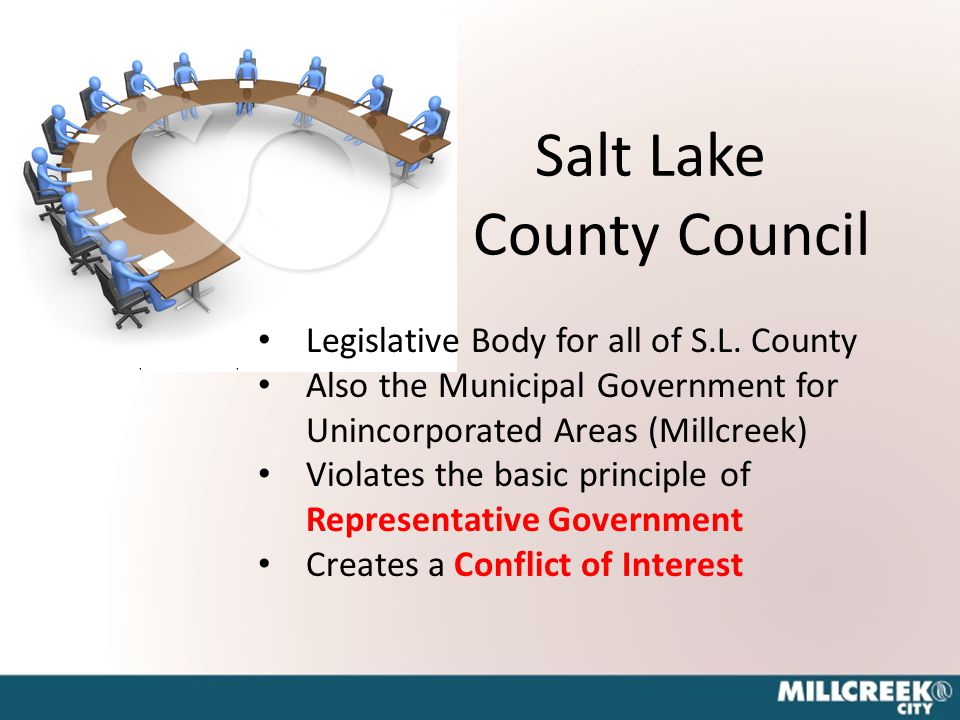 Salt Lake County Council 1. L Share this page:are this page: a a Legislative Body for all of S.L.