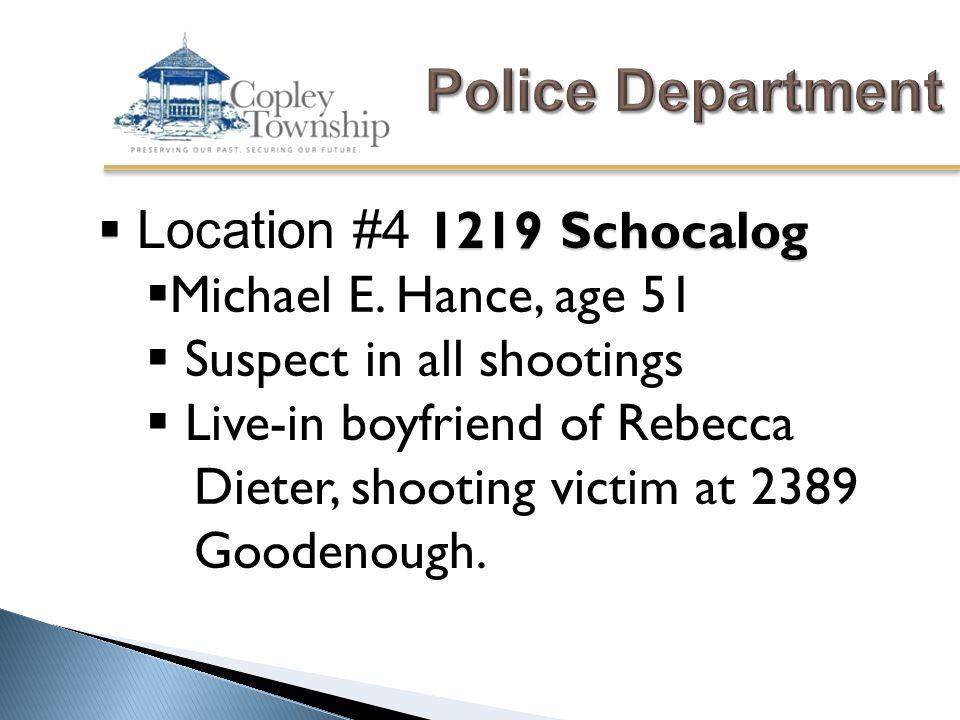  1219 Schocalog  Location #4 1219 Schocalog  Michael E.