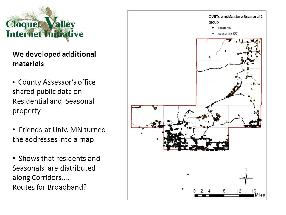 We developed additional materials County Assessor's office shared public data on Residential and Seasonal property Friends at Univ.