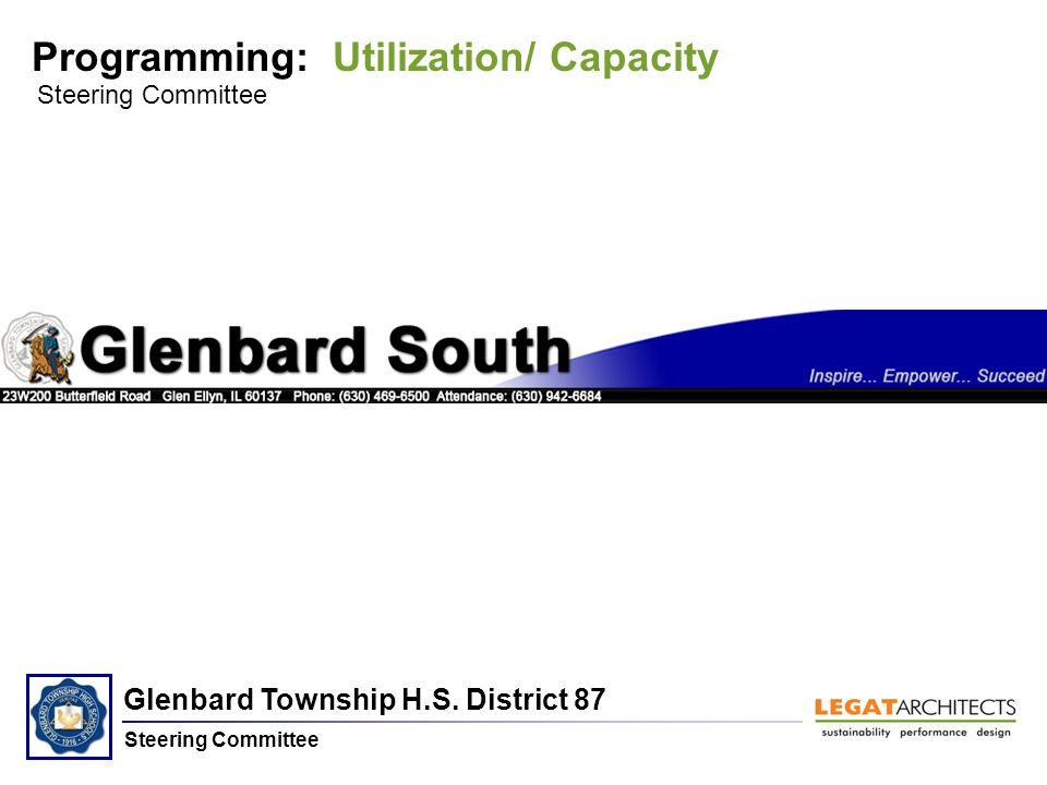 Glenbard Township H.S. District 87 Steering Committee Programming: Utilization/ Capacity Steering Committee Glenbard South H.S.