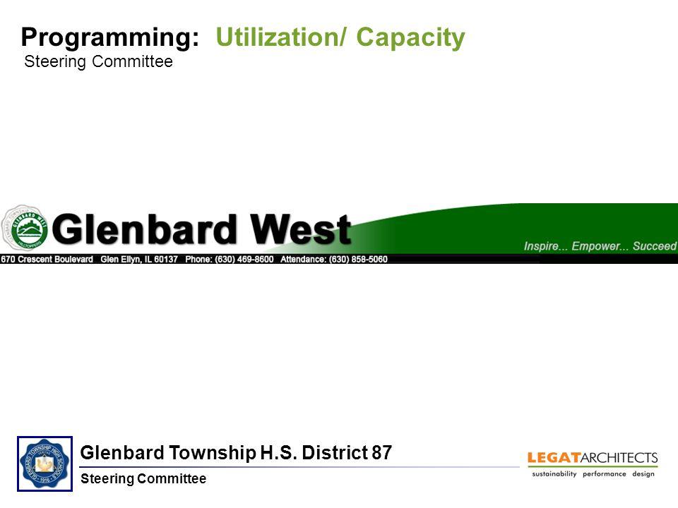 Glenbard Township H.S. District 87 Steering Committee Programming: Utilization/ Capacity Steering Committee Glenbard West H.S.