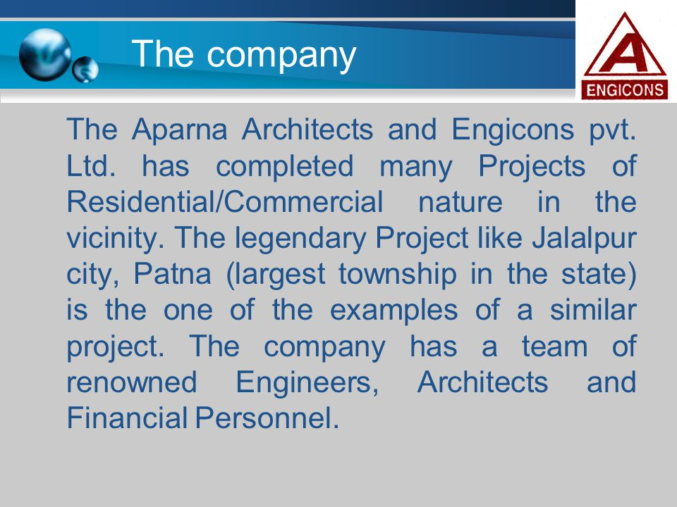 The company The Aparna Architects and Engicons pvt. Ltd. has completed many Projects of Residential/Commercial nature in the vicinity. The legendary P