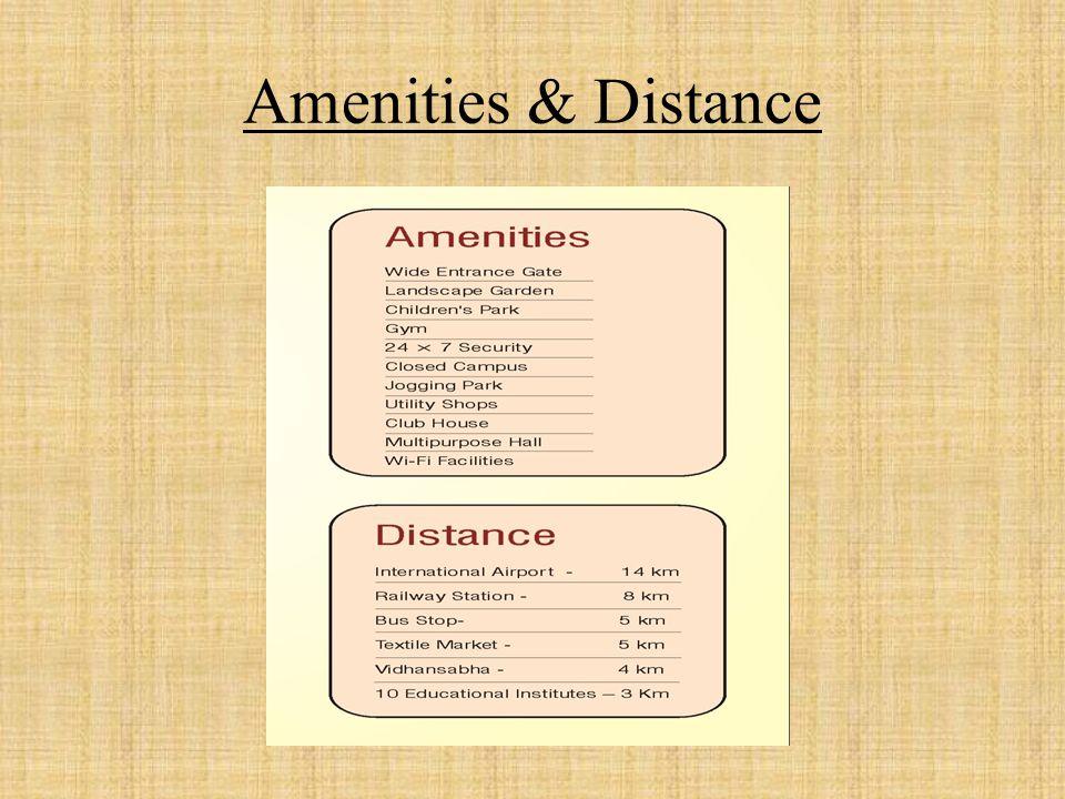 Amenities & Distance