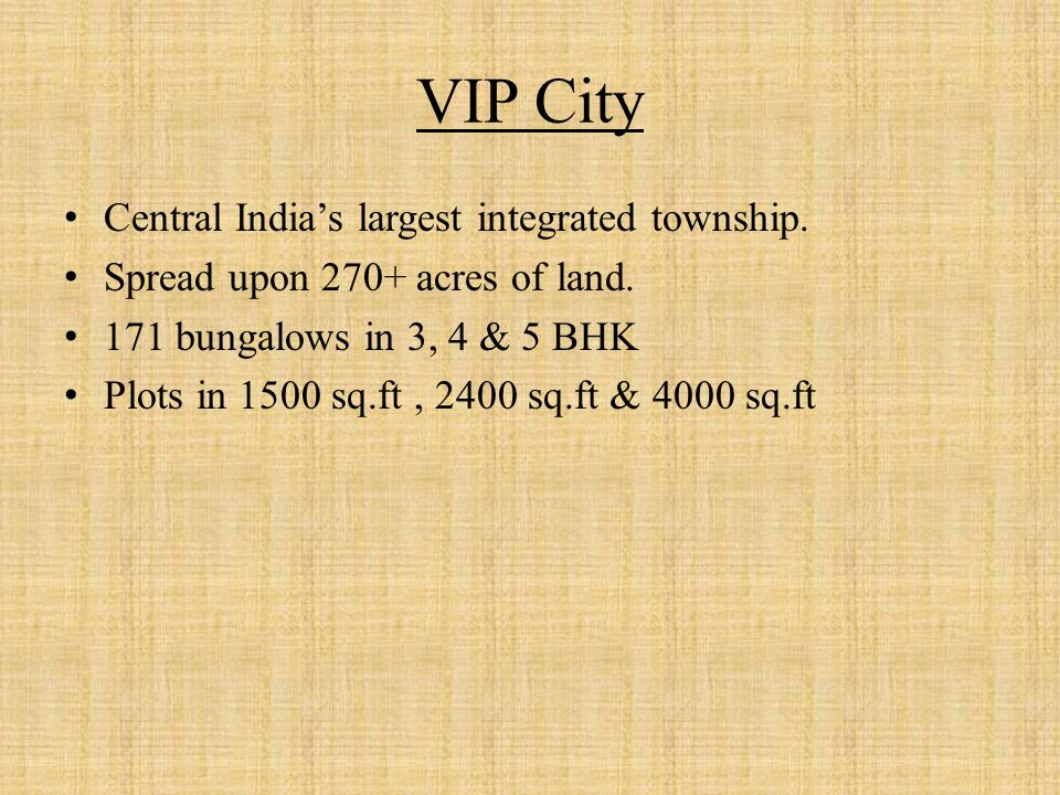 Plan of VIP Karishma Phase III
