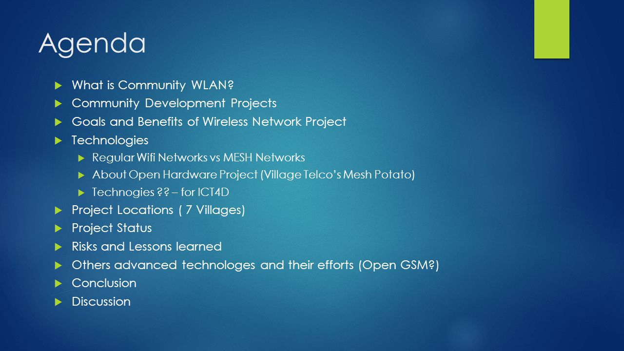 What is Community WLAN (Why Wifi Technology for rural area communication ?)  Community WLAN in Germany.