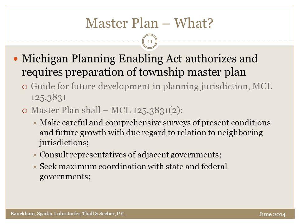 Master Plan – What.