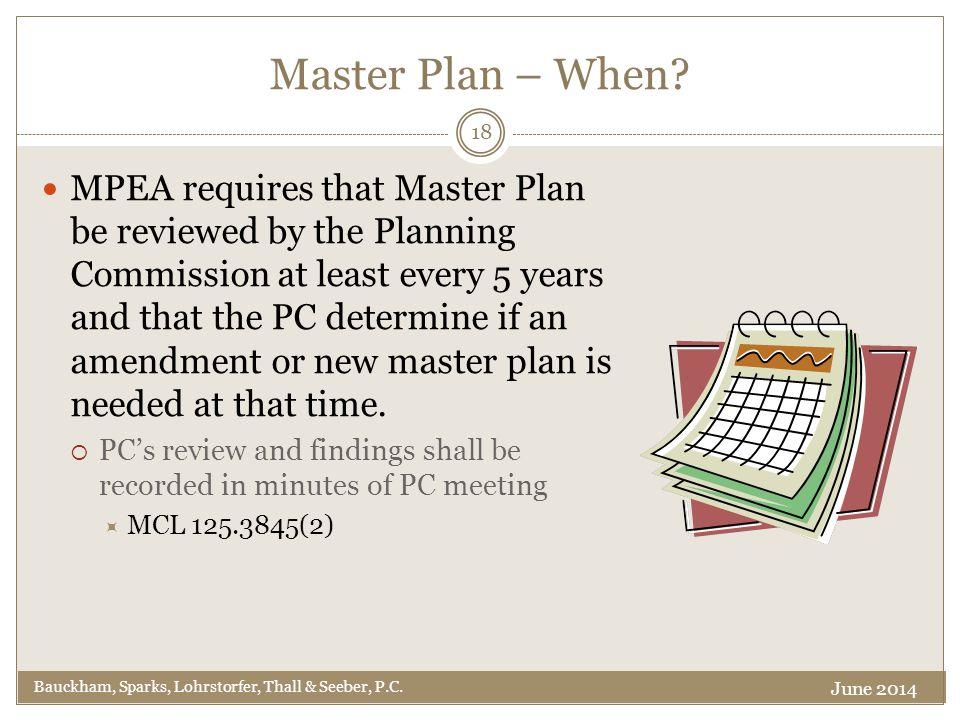 Master Plan – When.