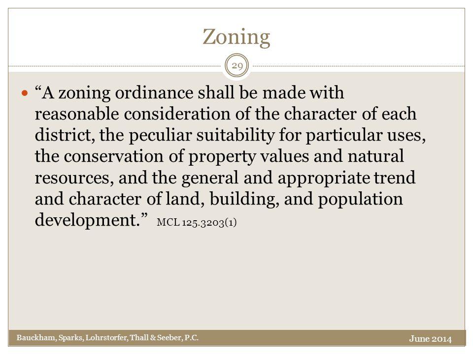 Zoning Bauckham, Sparks, Lohrstorfer, Thall & Seeber, P.C.