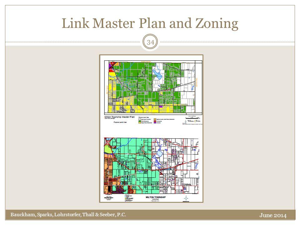 Link Master Plan and Zoning Bauckham, Sparks, Lohrstorfer, Thall & Seeber, P.C. 34 June 2014