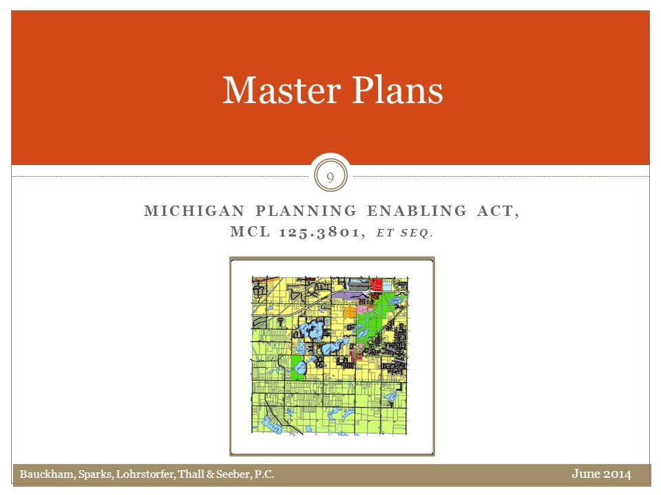 Master Plans 9 Bauckham, Sparks, Lohrstorfer, Thall & Seeber, P.C.