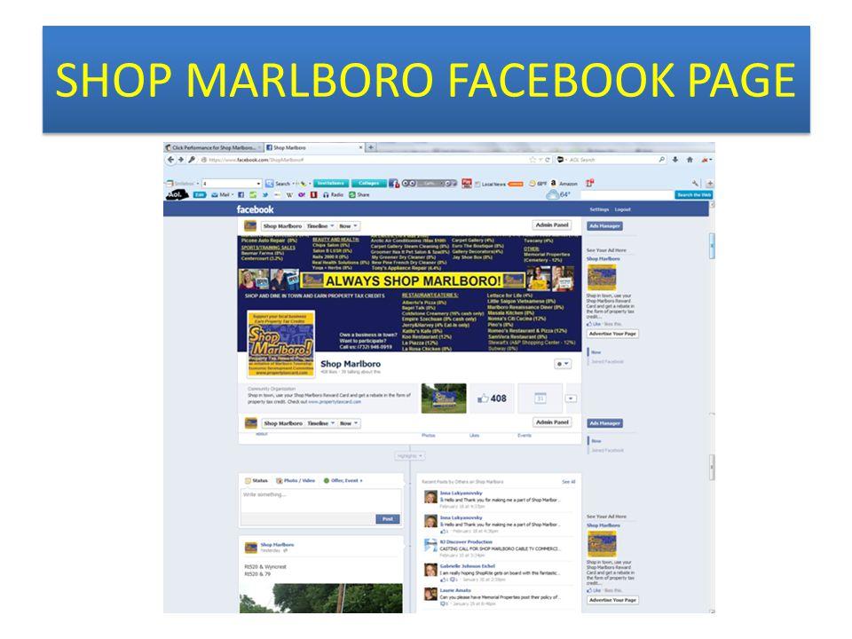 SHOP MARLBORO FACEBOOK PAGE