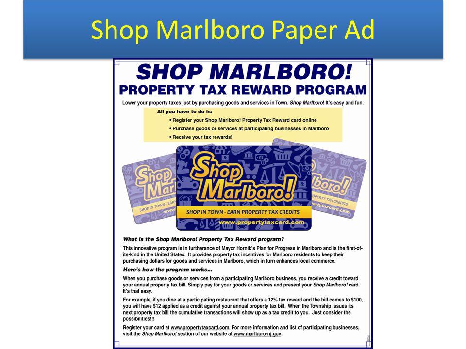 Shop Marlboro Paper Ad