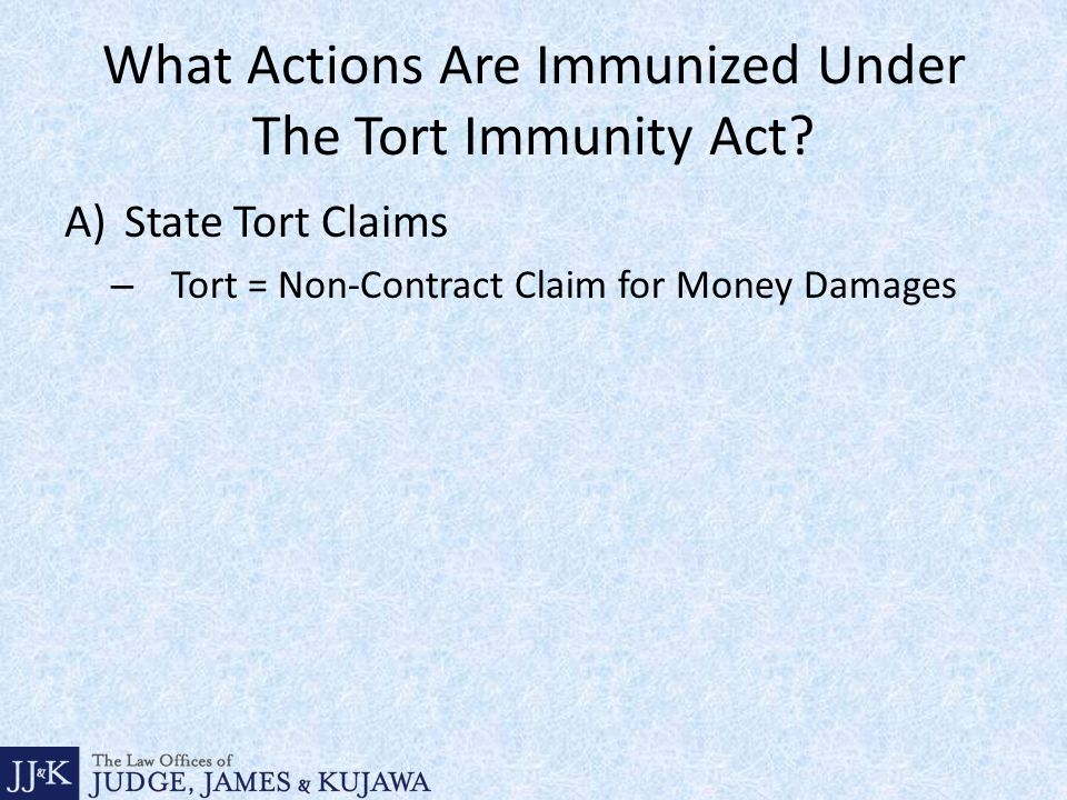 What Actions Are Immunized Under The Tort Immunity Act.