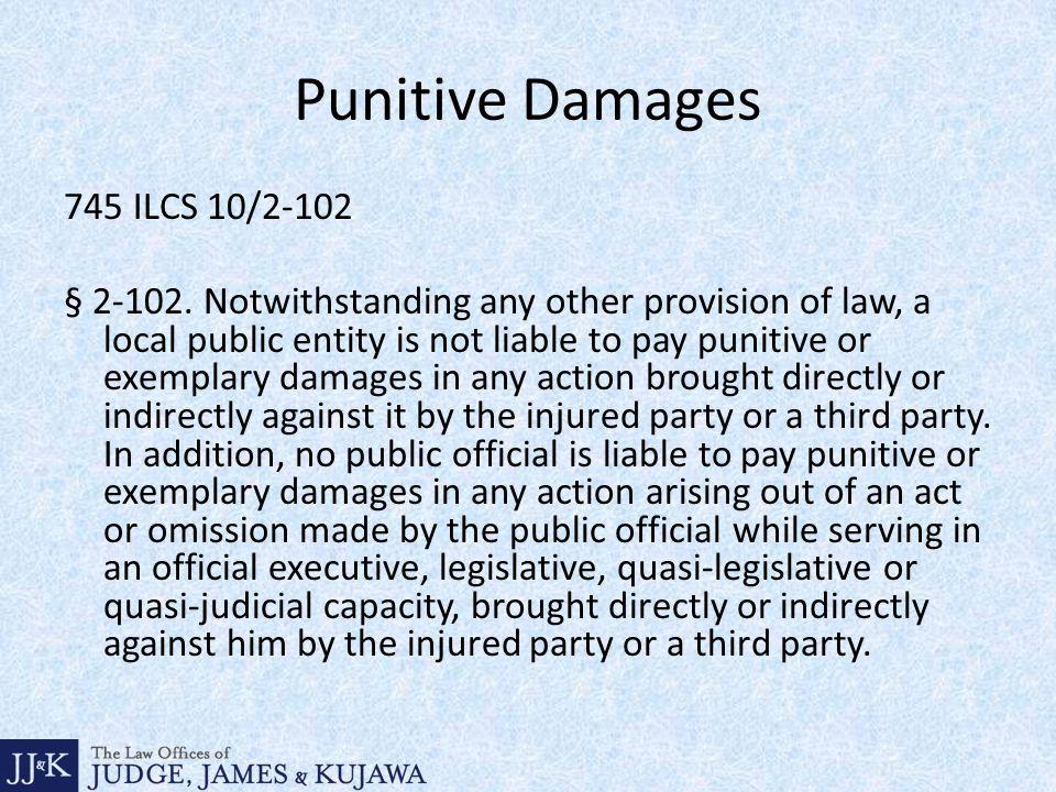 Punitive Damages 745 ILCS 10/2-102 § 2-102.