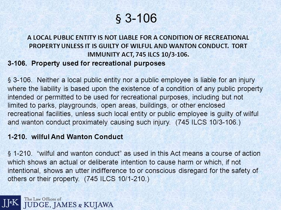 A LOCAL PUBLIC ENTITY IS NOT LIABLE FOR A CONDITION OF RECREATIONAL PROPERTY UNLESS IT IS GUILTY OF WILFUL AND WANTON CONDUCT.