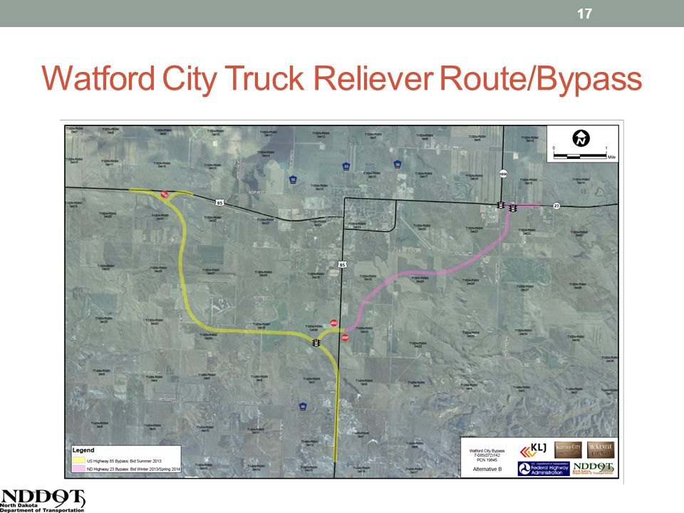 Watford City Truck Reliever Route/Bypass 17
