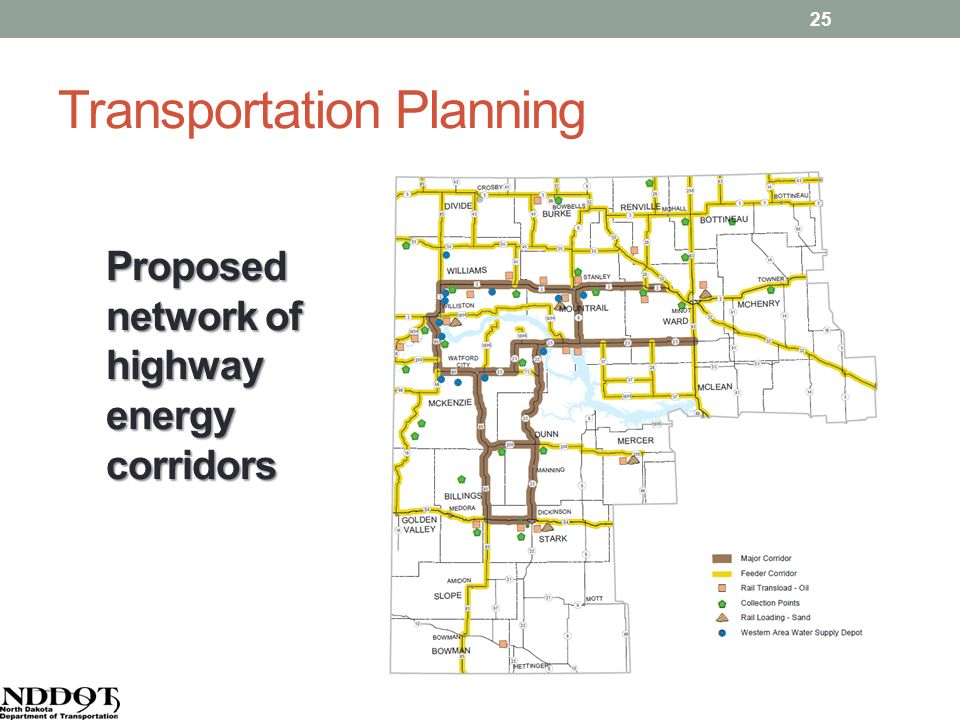 Transportation Planning Proposed network of highway energy corridors 25