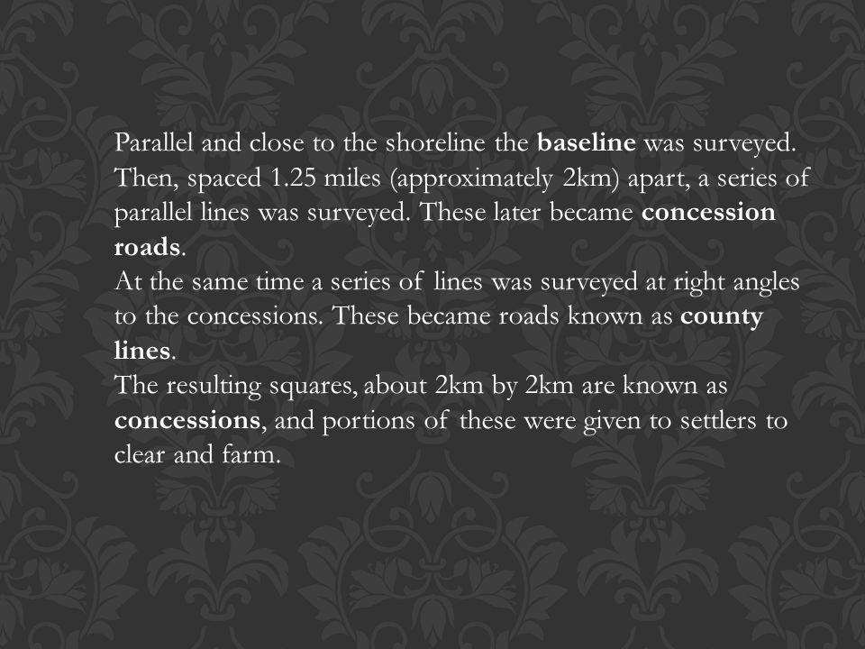 Parallel and close to the shoreline the baseline was surveyed. Then, spaced 1.25 miles (approximately 2km) apart, a series of parallel lines was surve