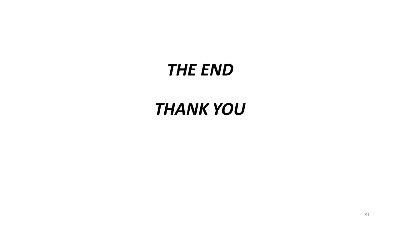 THE END THANK YOU 31