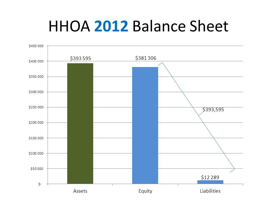 HHOA 2012 Balance Sheet $393,595