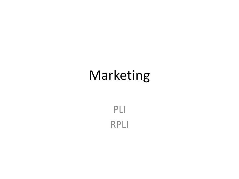 Marketing PLI RPLI