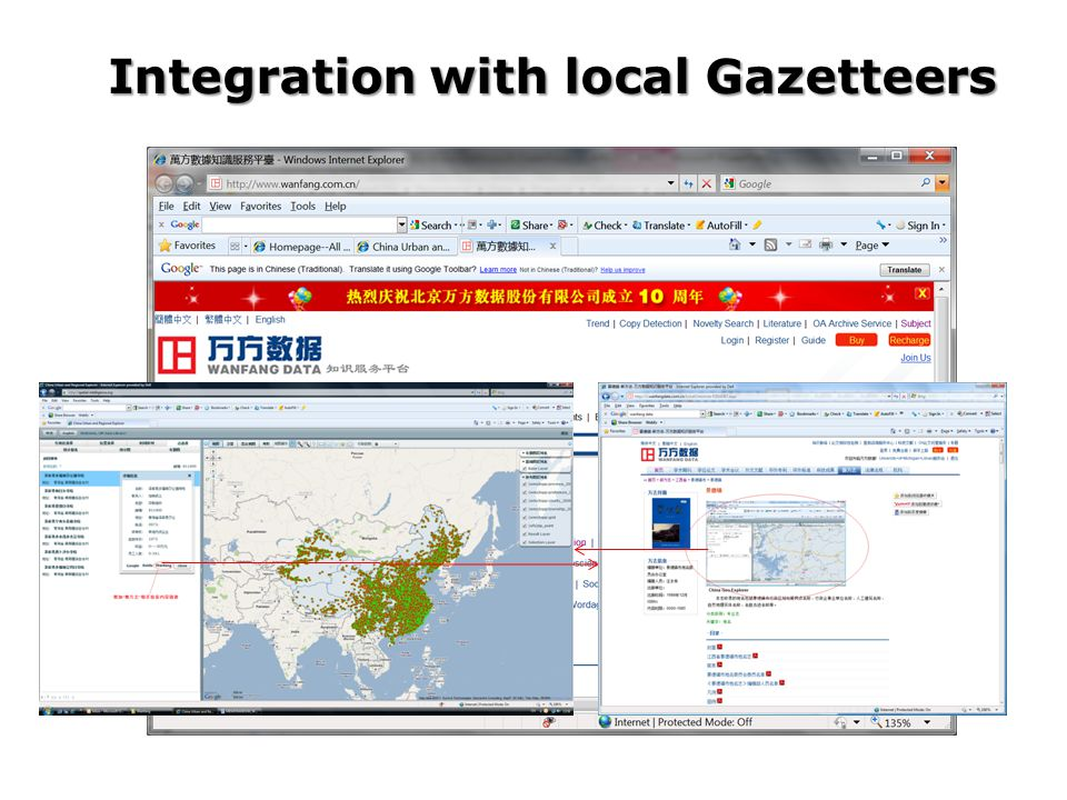 Integration with local Gazetteers