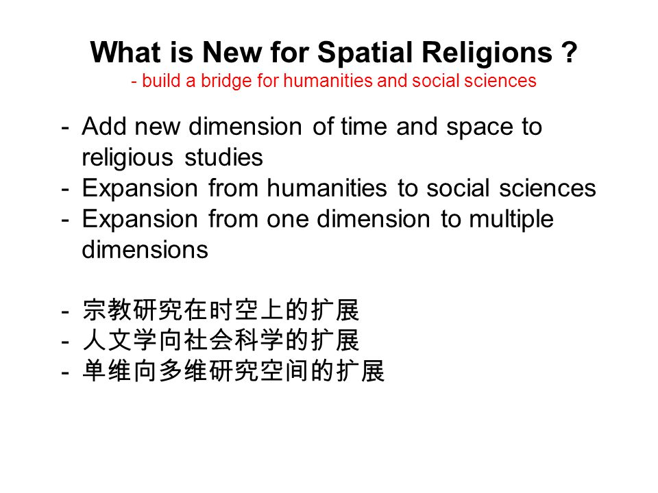What is New for Spatial Religions .