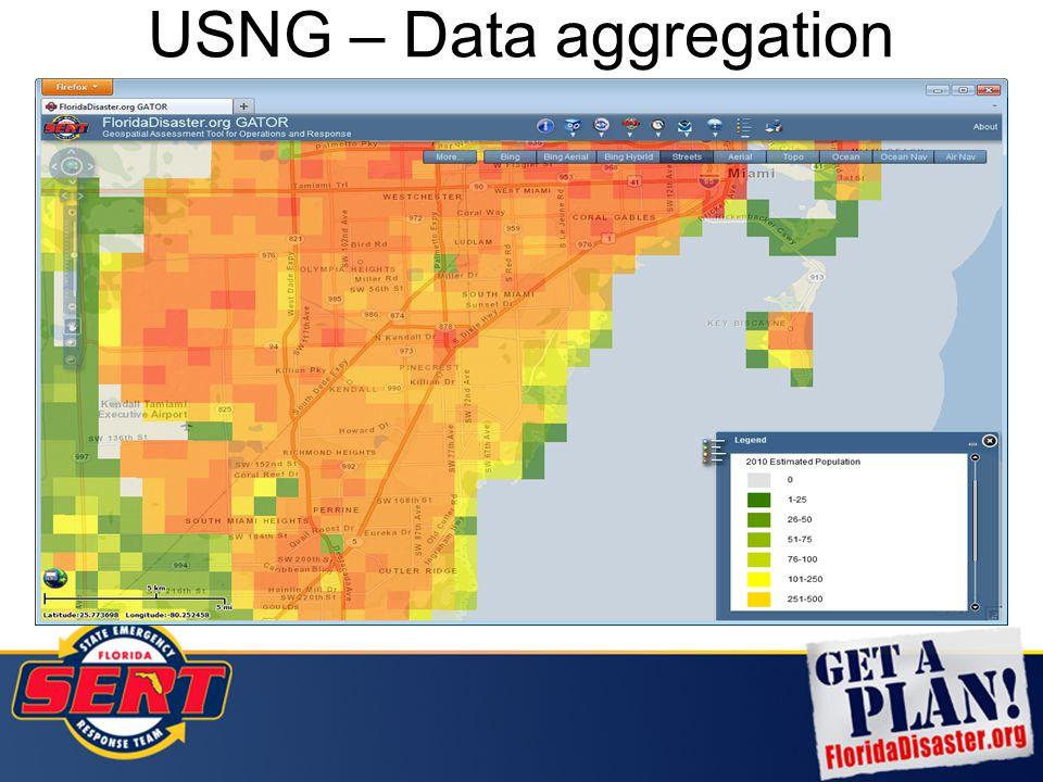 USNG – Data aggregation