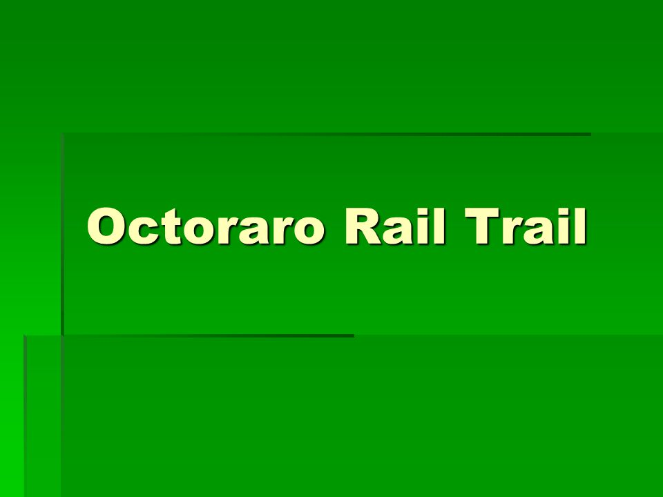 Intro  DCTMA formed Bike/Ped Committee in 2012  Mission is to support implementation of Delco Bike Plan  Selected Octoraro Rail-Trail as top priority  Octoraro is the best remaining rail-trail opportunity in Delaware County after the Chester Creek Trail -- Delaware County Bike Plan