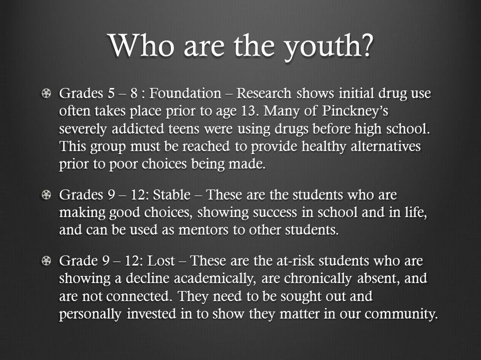 Who are the youth.
