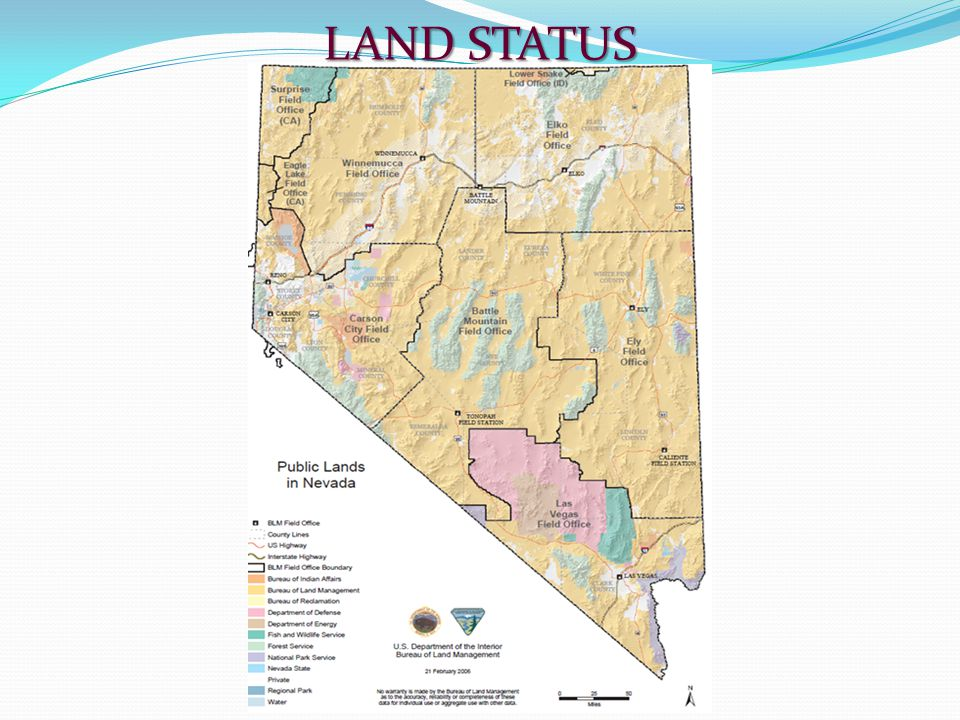 This presentation will demonstrate the basic requirements and a few of the more common actions on public lands that will help you determine: 1) Whether your area of interest is on land in Federal ownership; and 2) Whether or not the land is open to mineral entry.