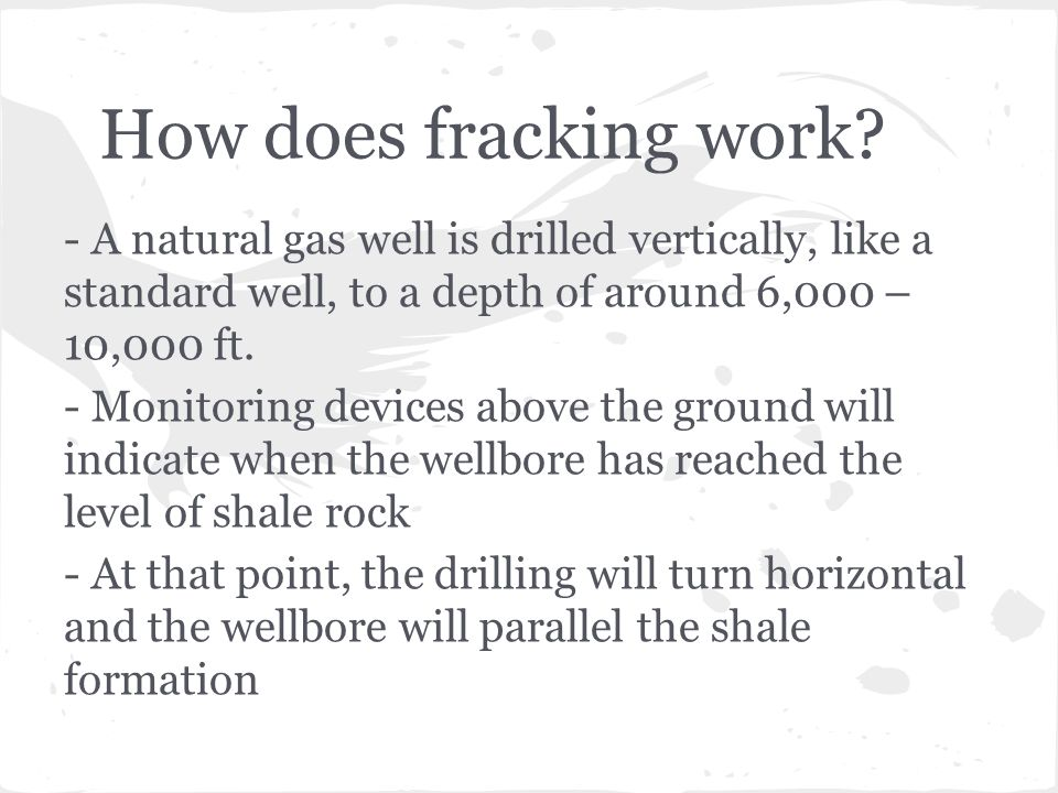 How does fracking work.