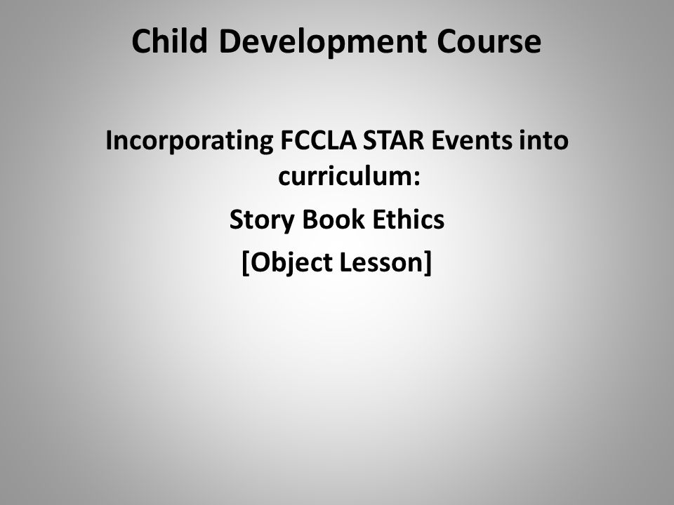 HSCC CTEP Early Childhood POS Model Child Development Course Pilot School: Matawan Regional High School, Matawan, NJ Teacher: Carol Hoernle