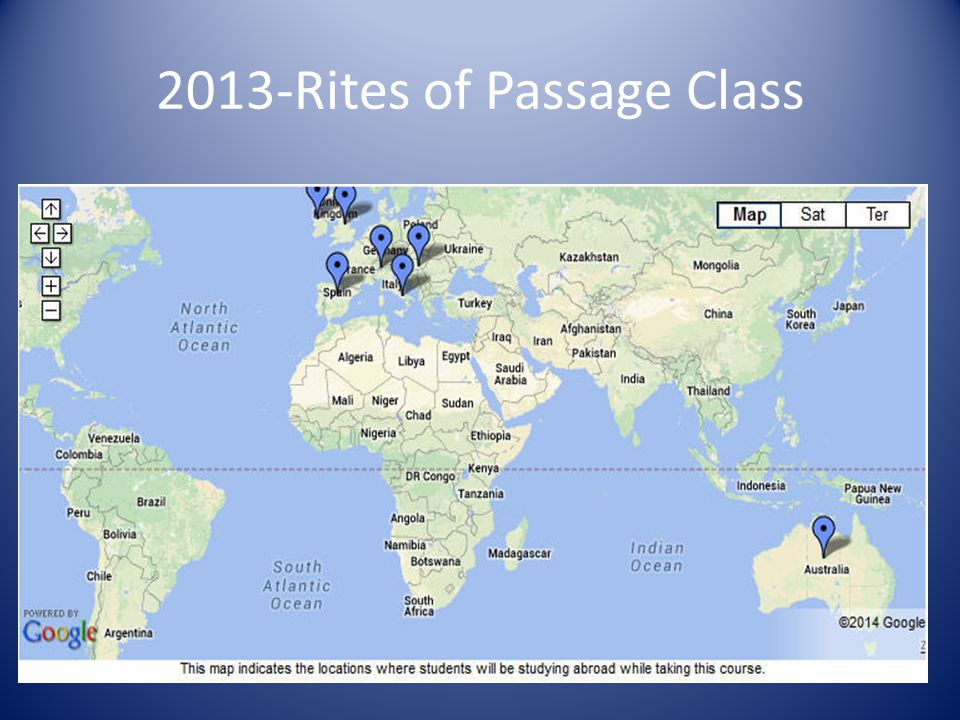 2013-Rites of Passage Class