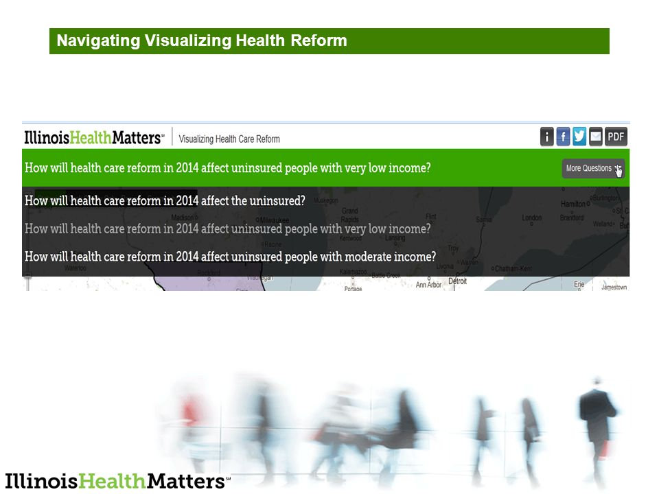 Navigating Visualizing Health Reform