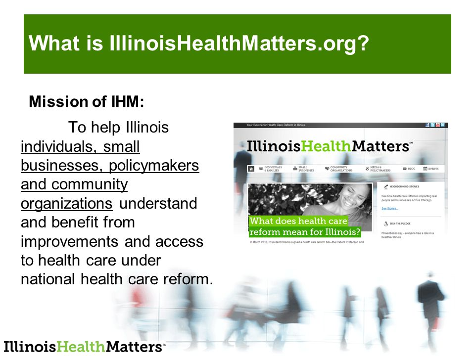 What is IllinoisHealthMatters.org.