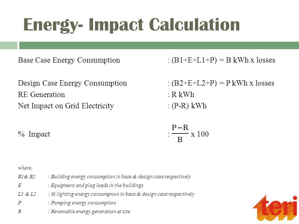 Energy- Impact Calculation