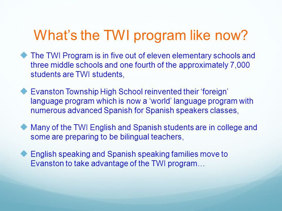 What's the TWI program like now.